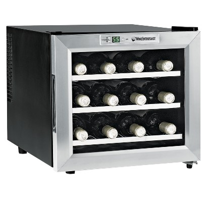 Wine Enthusiast Stainless Steel 12 Bottle Wine Fridge