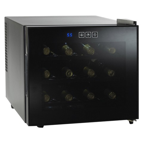 Wine Enthusiast Silent 12 Bottle Touchscreen Wine Refrigerator