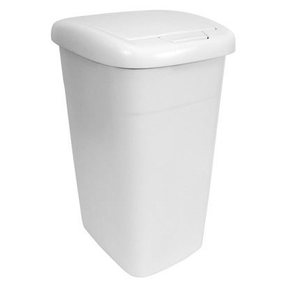 Hefty 13.5 Gallon Touch Lid Wastebasket White