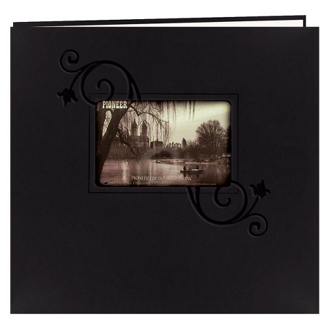 "Pioneer Embossed Postbound Album with Window - 12""X12"""