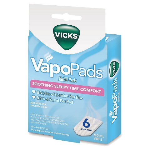 Vicks Rosemary and Lavender Scent VapoPads - 6 Count