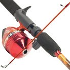 South Bend Worm Gear Red Fishing Rod & Spincast Reel Combo