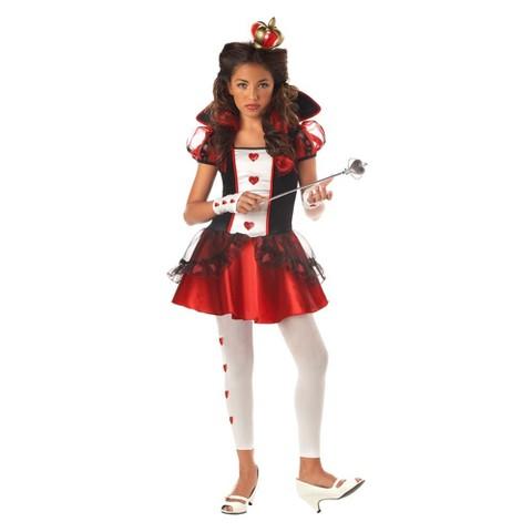 Girl's Wonderlands Queen of Hearts Costume