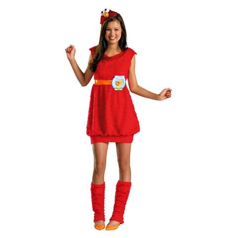 Tween Girl's Elmo Costume