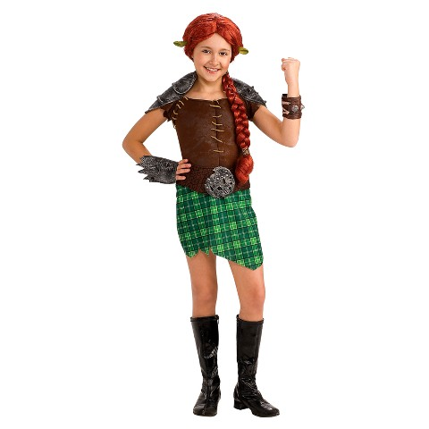 Toddler Girl Shrek Fiona Warrior Deluxe Costume 2T-4T