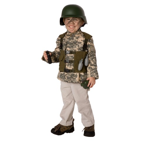 Boy's Army Ranger Costume Kit - One Size (Fits Sizes 4-8)