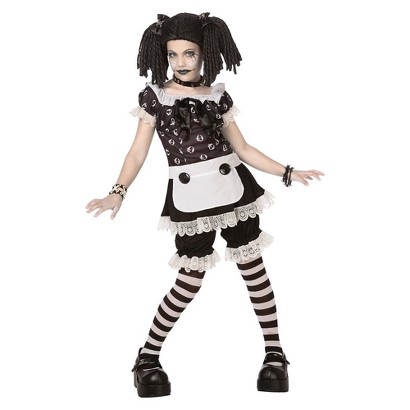 Tween Girl's Gothic Rag Doll Costume