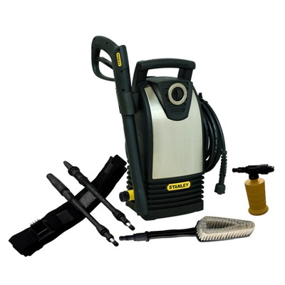STANLEY 1600 PSI 1.4 GPM Electric Pressure Washer with High Pressure Variable Spray Gun and Clip-On Belt