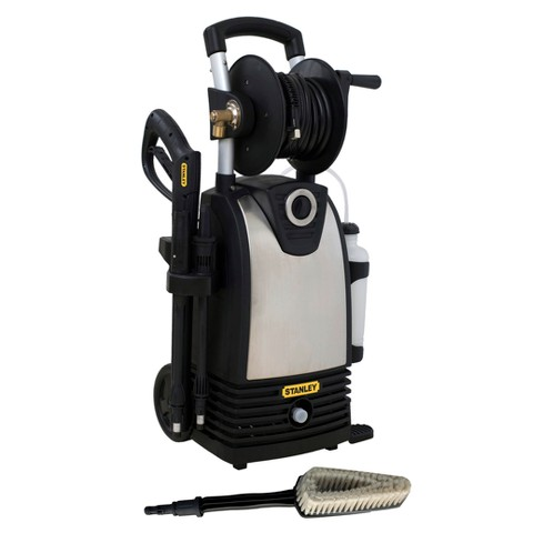 STANLEY 1800 PSI 1.4 GPM Electric Pressure Washer with High Pressure Variable Spray Gun and Wheels
