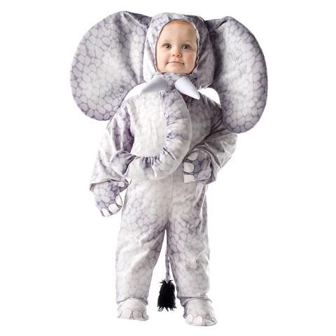 Kids' Grey Elephant Costume