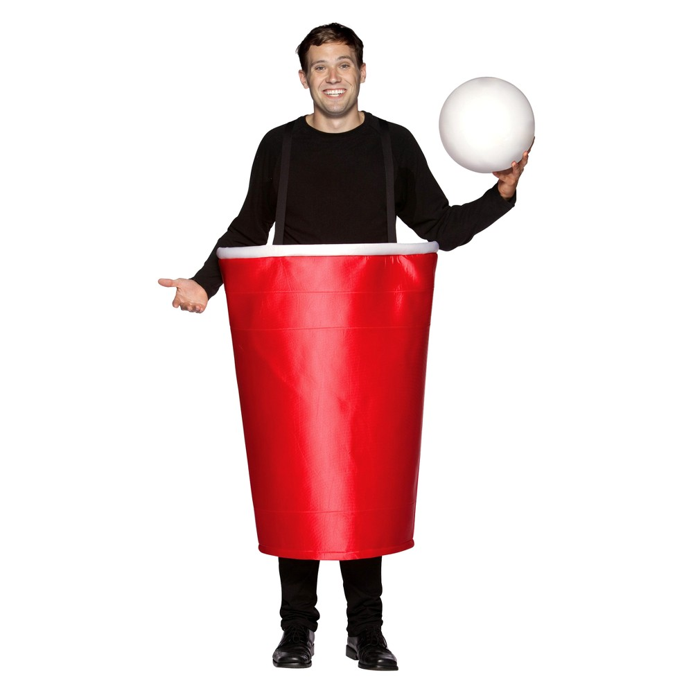Men's Beer Pong Cup Costume One Size Fits Most, Blue
