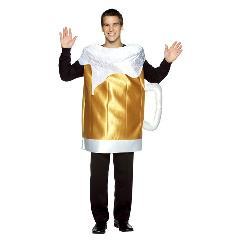 Adult Beer Mug Costume - One Size Fits Most Adults