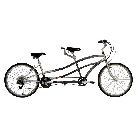 "Kent Adult 26"" Dual Drive Tandem Bike - Silver"