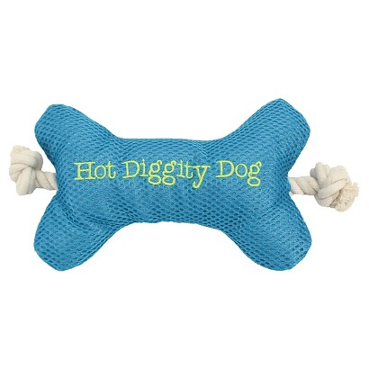 Boots and Barkley® Mesh Bone with Rope Dog Toy