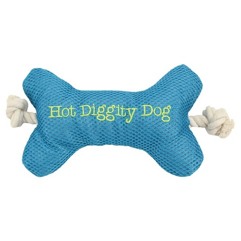Boots & Barkley™ Mesh Bone with Rope Dog Toy