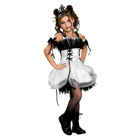 Girl's Gothic Ballerina Costume