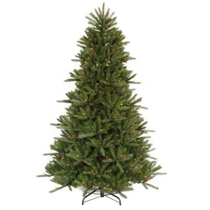 7.5' Pre-Lit Vermont Instant Shape Tree - Multi Lights