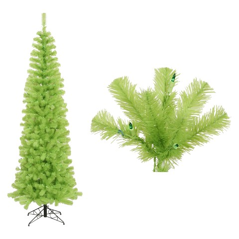 4.5' Pre-Lit Pencil Christmas Tree - Clear Lights
