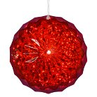 """Red Crystal Ball with 30 LED Lights - 6"""""""