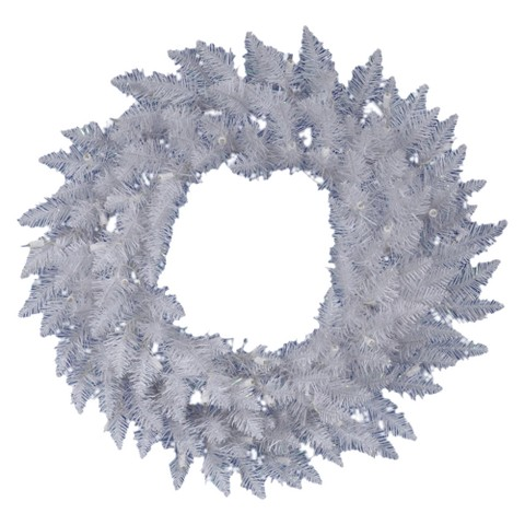 "Spruce Wreath - White (30"")"