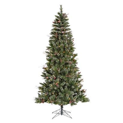 7' Pre-Lit SnowTip Berry/Vine Tree - Clear Lights