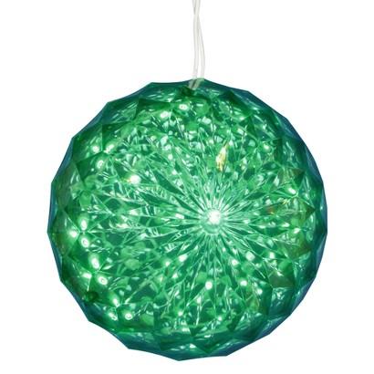 "30ct Green LED Crystal Ball - 6"""