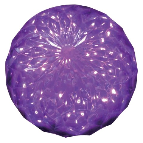 Purple Crystal Ball with 30 LED Lights - 6""