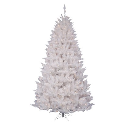 9.5' Pre-Lit White Spruce Tree - Clear Lights