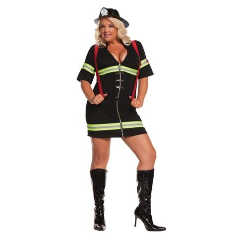 Women's Ms. Blazin' Hot Costume - Plus Size