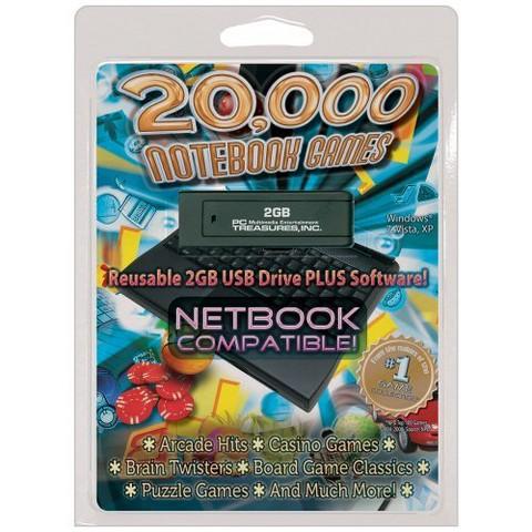 2GB USB 20,000 Notebook Games