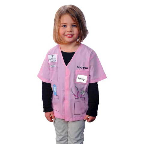 Girl's My First Career Gear - Doctor (Pink) Toddler Costume - 4T-5T