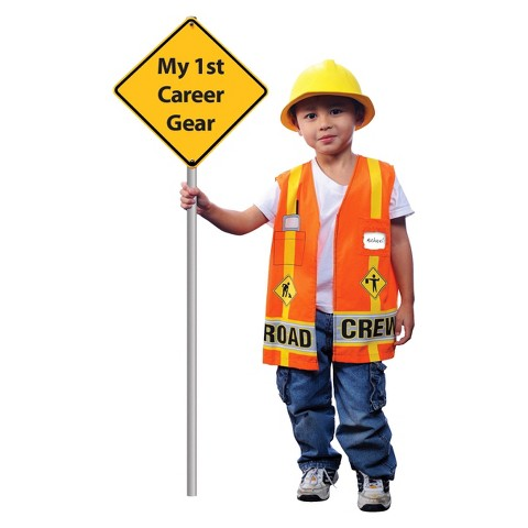 Toddler My First Career Gear - Road Crew  Costume - 4T-5T