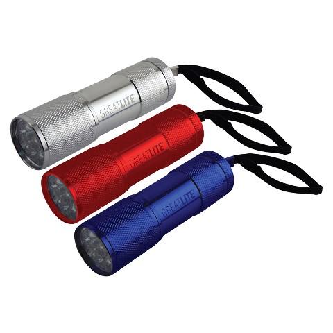 Greatlite Mini 9 LED Flashlight- 3 Pc