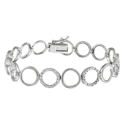 Sterling Silver Diamond Accent Circle Bracelet