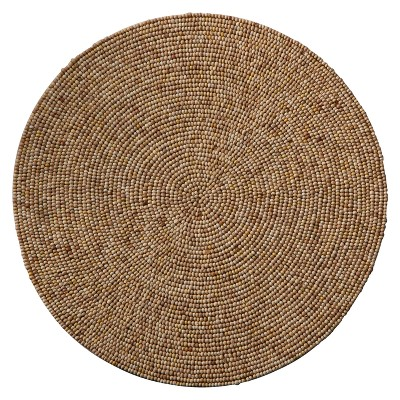 """Home Beaded Charger - Light Brown (15"""")"""