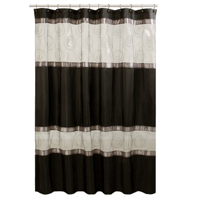Marco Fabric Shower Curtain - Black