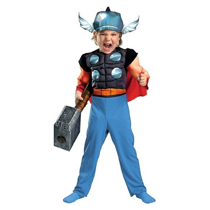 Toddler Boy Thor Muscle Costume