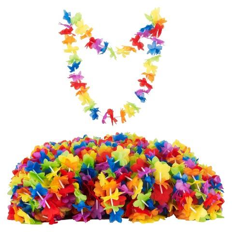 Silk'NPetals Rainbow Flral Leis 50 ct