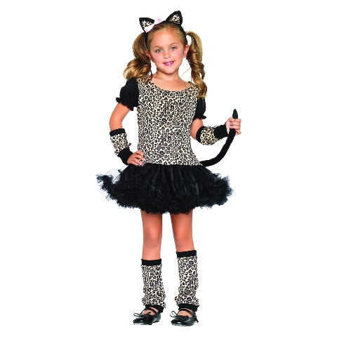 Girl's Little Leopard Costume