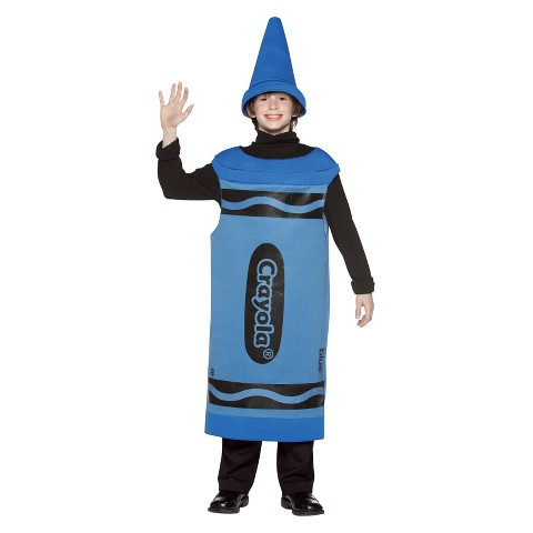Tween Blue Crayola Crayon Costume