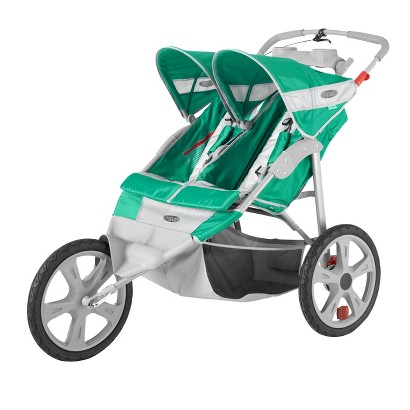 In Step Flash Fixed Wheel Double Jogger - Grass/Gray