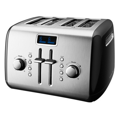 KitchenAid® 4-Slice Toaster with Digital Display- Onyx Black KMT422