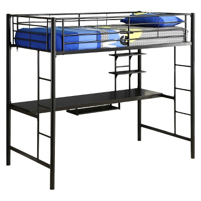 Twin/Workstation Bunk Bed - Metal