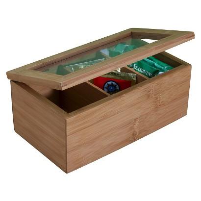 "Danesco International Natural Living Bamboo Tea Box - 8.5x3.5"""