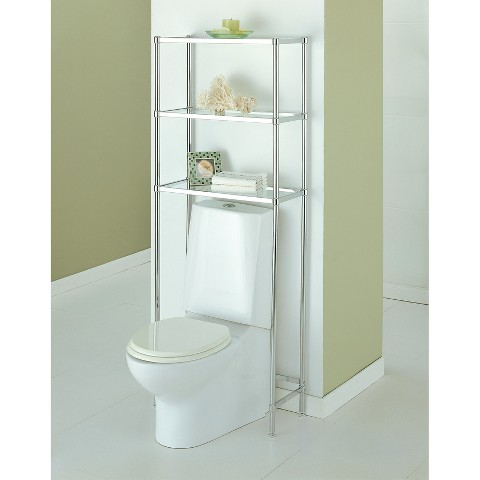 Innovative  Toilet Wood Space Saver Bathroom Storage Cabinet Shelf Linen  EBay