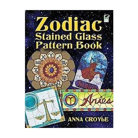Zodiac Stained Glass Pattern Book (Paperback)