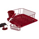 Rubbermaid Sinkware Dishwashing Set - Red (4 Pc)