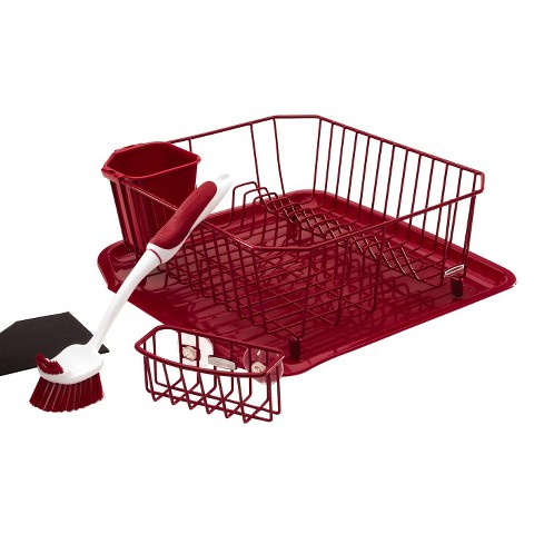 Rubbermaid Sinkware Dishwashing Set - Red (4 Pc)