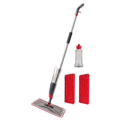 Rubbermaid® Reveal™ Microfiber Spray Mop System, 1 Mop Handle, 3 Microfiber Pads and 2 Refill B
