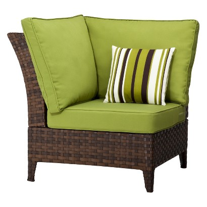 Belmont Brown Wicker Patio Corner Sectional Chair